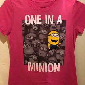 Pink Minion shirt